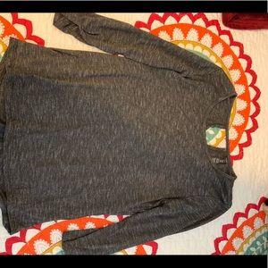 Gray medium length sleeved t shirt